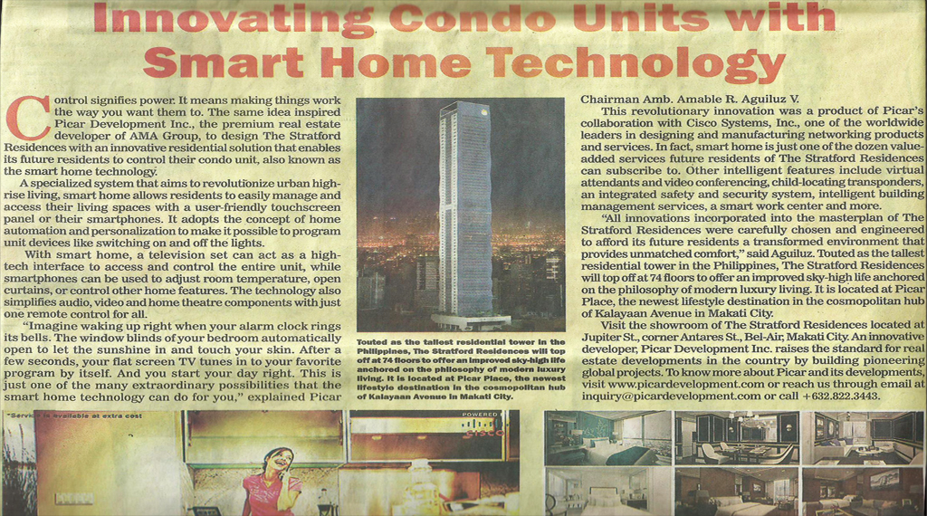 Innovating condo units with smart home technology the for Smart home technology 2014